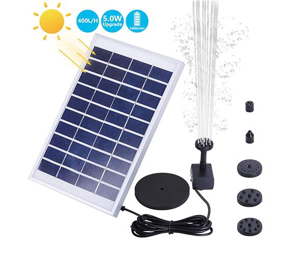 AISITIN 1000mAh Solar Fountain Pump