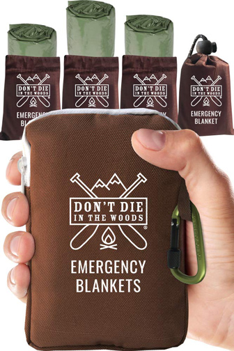 Don't Die In The Woods Emergency Thermal Blanket