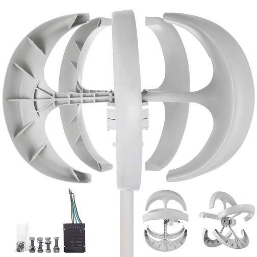 Happybuy Wind Turbine 400W White Lantern