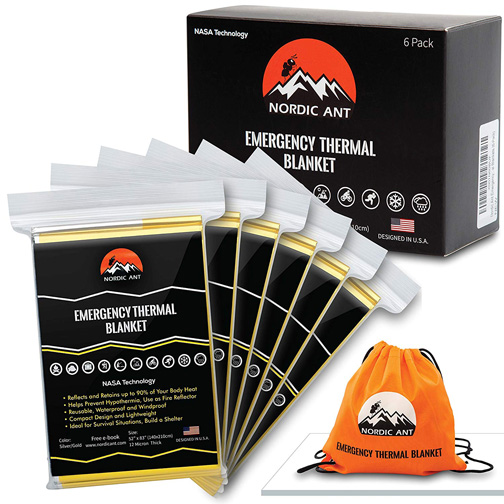 Nordic Ant Emergency Blanket 6-pack