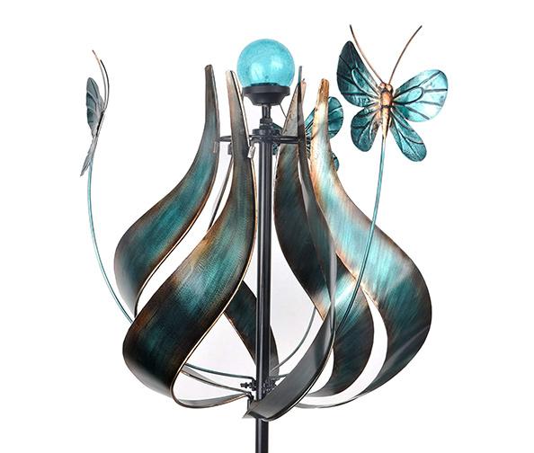 PEAKTOP Outdoor Kinetic Solar Light Wind Spinners