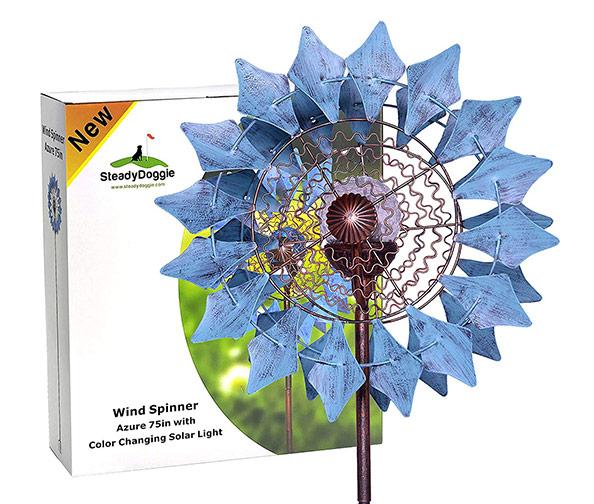 STEADYDOGGIE Solar Wind Spinners New Azure