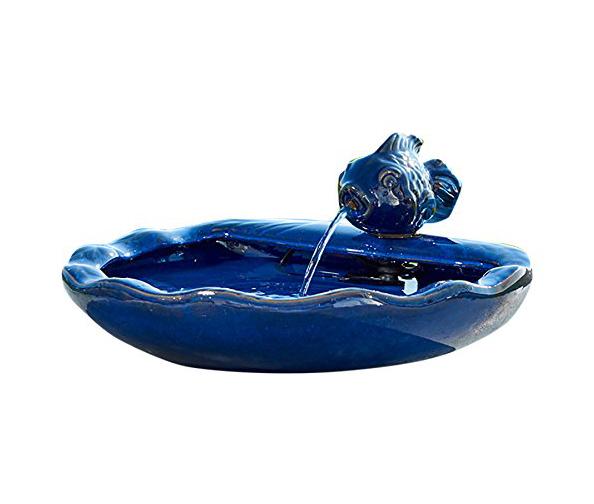 Smart Solar Ceramic Koi Fountain