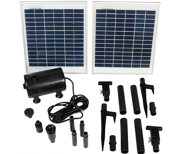 Sunnydaze Outdoor Solar Pump and Panel Fountain Kit