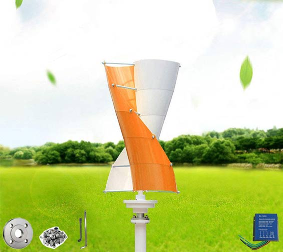 Wonderful Online's Wind Turbine Generator Orange and White Mini