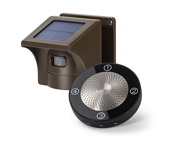 1/2 Mile Long Range Solar Wireless Driveway Alarm Outdoor Weather Resistant Motion Sensor & Detector
