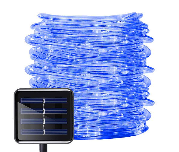 ALUVEE Solar Rope String Lights, 33ft (100 LEDs)