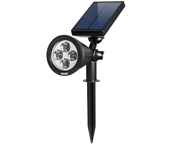 AMIR Solar Spotlights Outdoor 4 LED