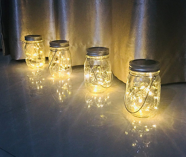 Aubasic Solar Mason Jar Lights