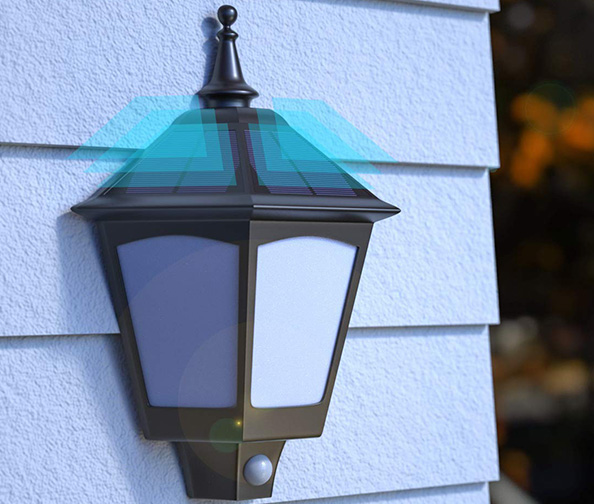 B-right Solar Light Sconce