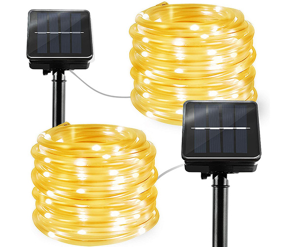 BBOUNDER 2 Pack Solar Rope Lights, 2 x 23ft (60 LEDs)