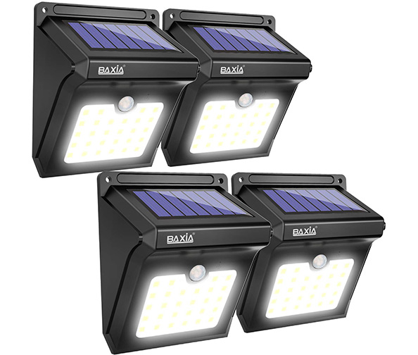 Baxia Technology 28 LED Super Bright Solar Motion Sensor Wall Lights