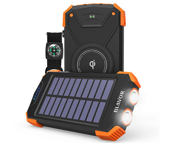 Blavor Qi Wireless Solar Power Bank