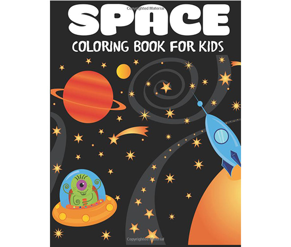 Blue Wave Press Space: Coloring Book for Kids