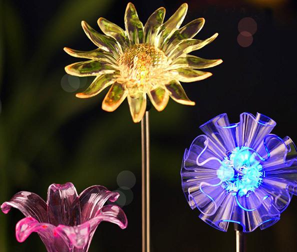 Bright Zeal Bz3 [set Of 3] Led Color Changing Solar Stake Lights