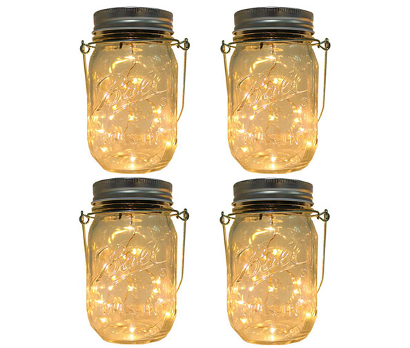 CHBKT Solar-Powered Mason Jar Lights