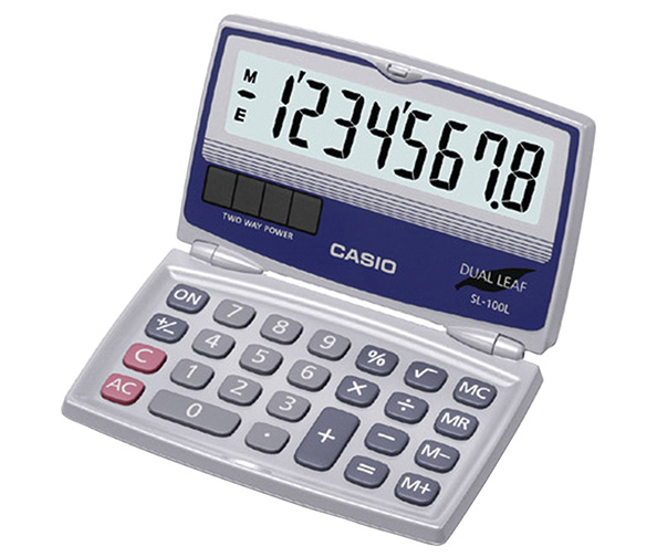 Casio Basic Folding Compact Solar Powered Calculator