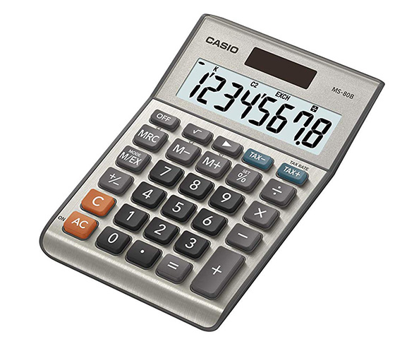 Casio MS-80B Standard Function Solar Powered Calculator