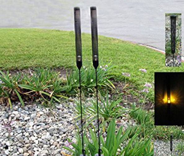 Cat Tail Yellow LED Solar Stake Light