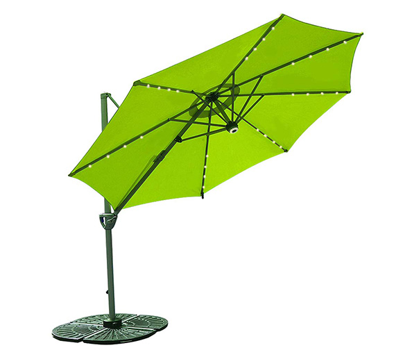 Cobana 10ft Offset Cantilever Solar Powered Umbrella