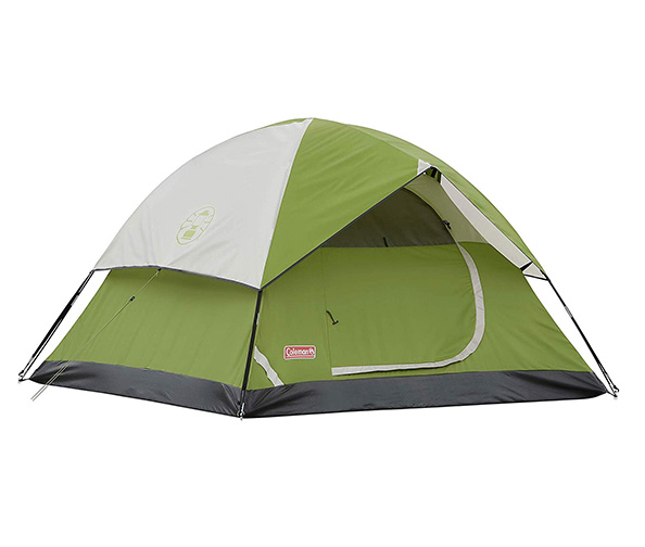 Coleman Dome Tent + Solar Powered Charger