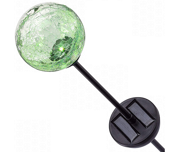 Deneve Solar Gazing Ball on Tall Stake