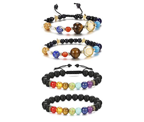 Finrezio Chakra Stone Diffuser & Solar System Bracelets Set