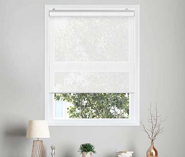 Free-Stop Cordless Roller Shades, No Tug UV Ray Blocking Window Blinds by Chicology