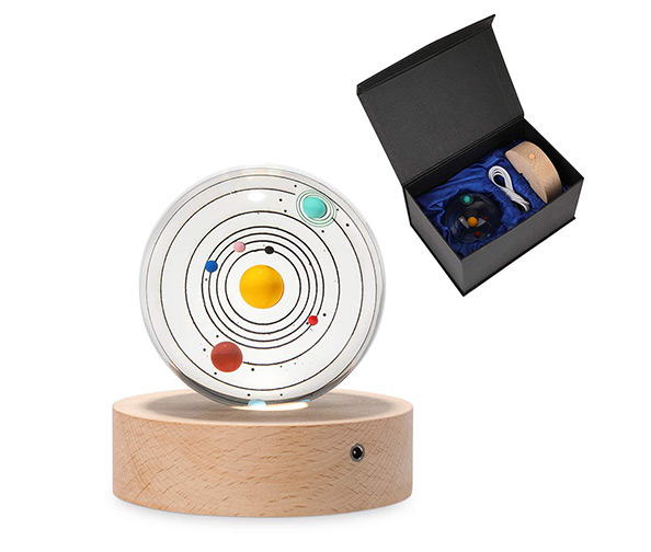 Furniture Life 3D Crystal Ball with Solar System Model