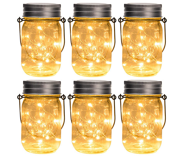 GIGALUMI Hanging Solar Mason Jar Lid Lights