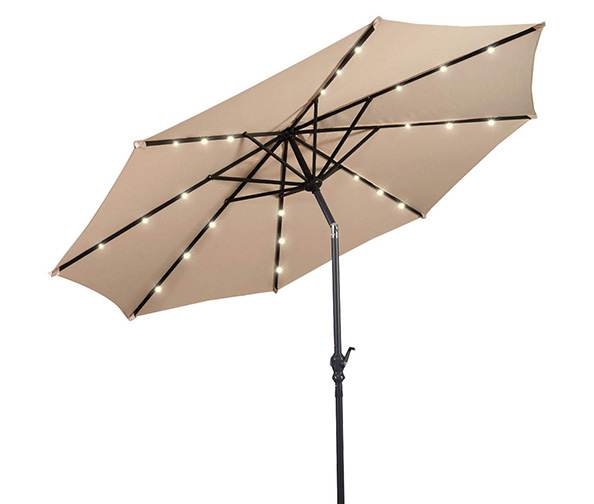 Giantex 10ft Solar Patio Umbrella