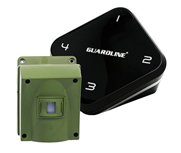 Guardline ¼ Mile Long Range Wireless Driveway Alarm Outdoor Weather Resistant Motion Sensor & Detector