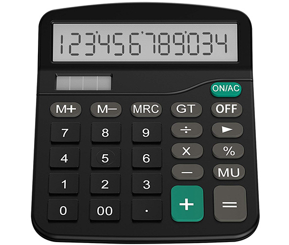 Helect Standard Function Solar Desk Calculator