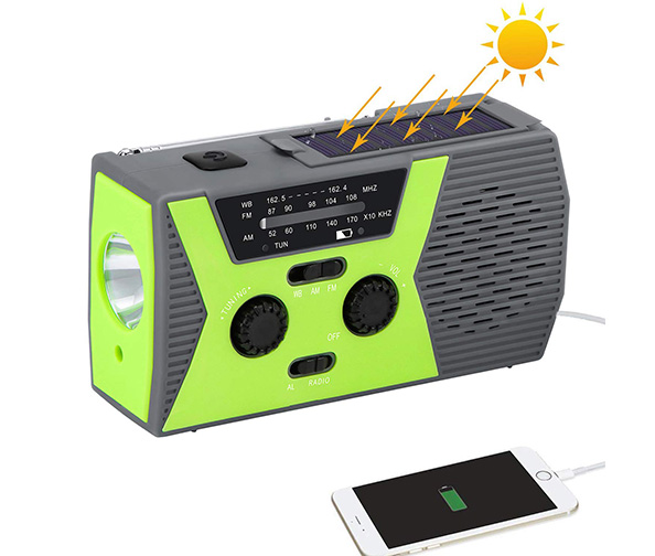 Houkiper Solar Emergency NOAA Weather Radios with AM/FM