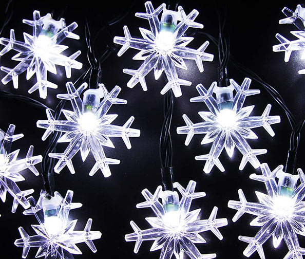 INNGREE Snowflake Solar String Lights 30 LED