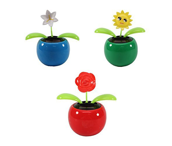 KT 3-Pack Solar Dancing Flowers