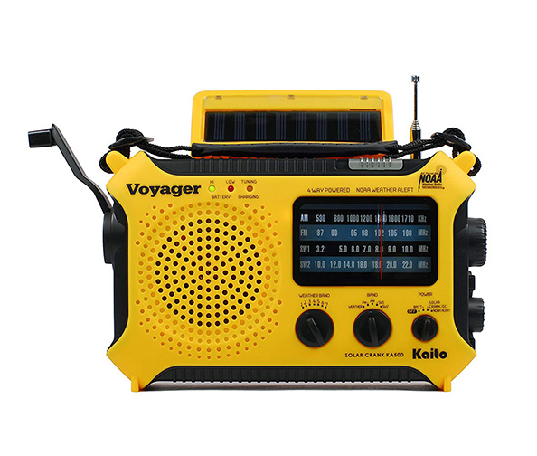 Kaito KA500 5-way Solar Power AM/FM/SW/NOAA Weather Alert Radio
