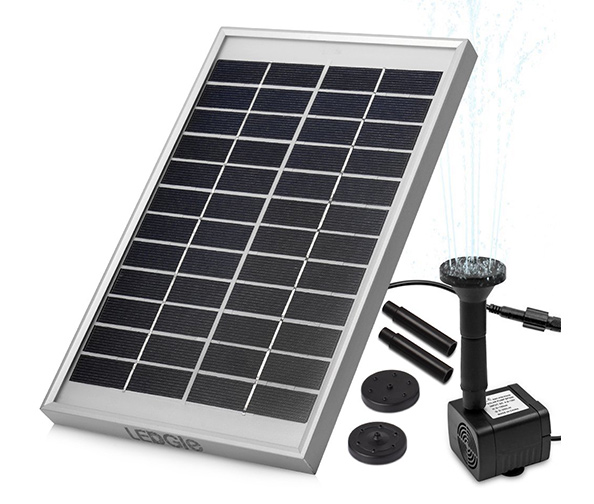 LEDGLE 5W Solar Fountain Pump Garden Water Pump