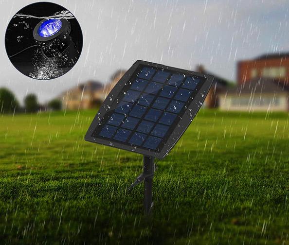 LEMON BEST 3-Lamp Underwater Solar Lights