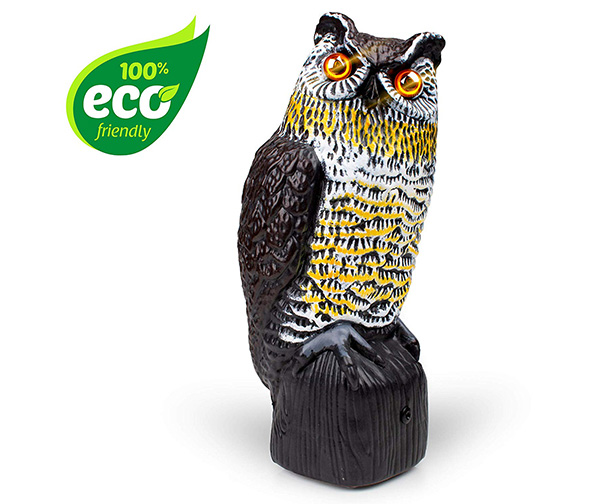 Livin' Well Solar Powered Owl Decoy