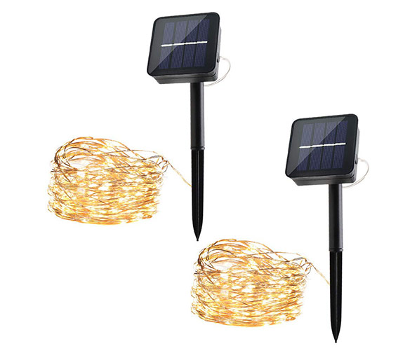 MPOW Solar String Lights, 2 x 33ft (100 LEDs)