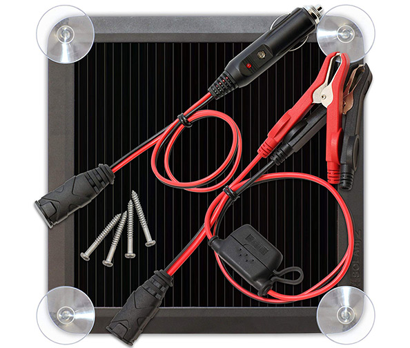 NOCO BLSOLAR2 2.5 Watt Solar Battery Charger (2.5W Solar Panel)