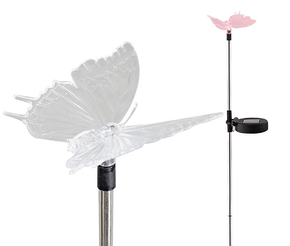 Outdoor Solar Garden Stake Light - Color Changing Decorative LED Figurine Dragonfly