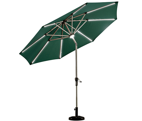 Purple Leaf 9ft Solar Powered Umbrella