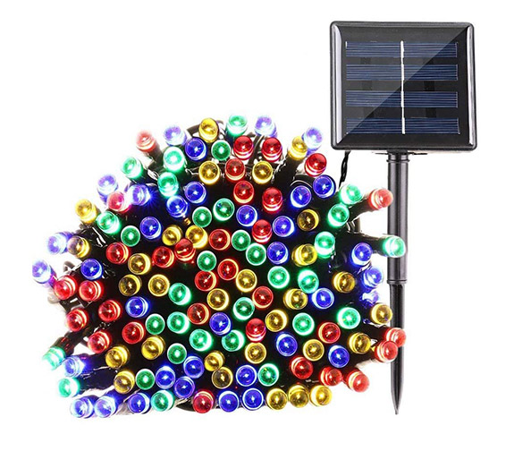 QEDERTEK 200 LED Solar Powered Christmas Lights