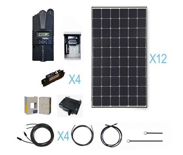 RENOGY 3600 Watt Monocrystalline Solar Cabin Kit