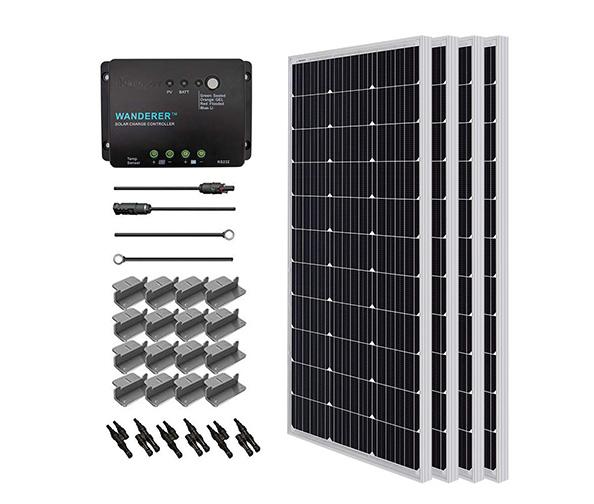 RENOGY 400W Monocrystalline Solar Starter Kit with Wanderer