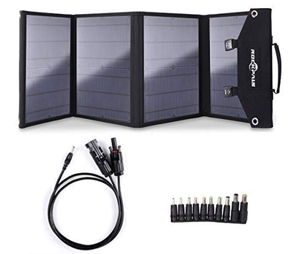 ROCKPALS Solar Panel Charger for Suaoki Portable Generator (100W Foldable Solar Panel)