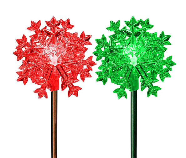 SOLARDUKE LED Snowflake Lights 3D