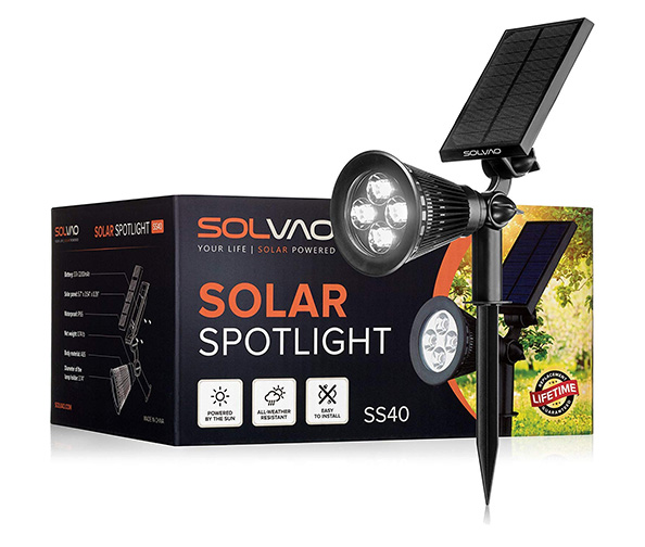 SOLVAO Solar Spotlight (Upgraded)